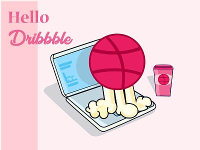 DRIBBBLE dribbble dribbble invite vector design illustration