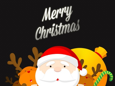 Merry Christmas gift claus santa christmas ui