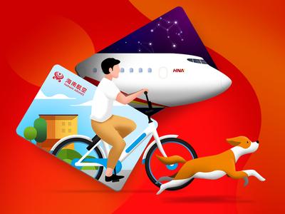 Life bike dog plane airline