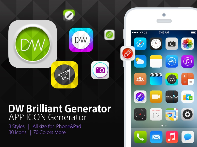 Iphone icon size generator