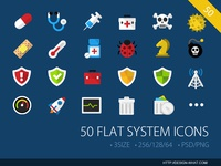 50 Flat System ICONs