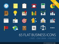65 Flat Business ICONs