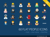 60 Flat People ICONs