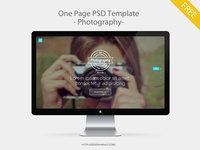 One Page PSD Template - Photography -