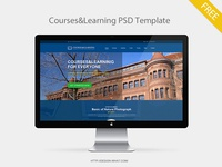 Courses&Learning PSD Template