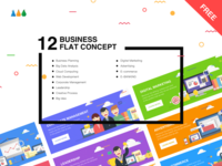 12 Business Flat Concept