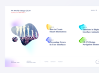 Design Event - Landing Page typogaphy website design graphicdesign homepage anuraveendran website landing colors all visual schedule navigation landing page interface ui clean