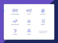 Pre School Activity App Icons iconography color app store icon illustration app icon
