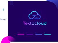 Textocloud Logo simple clean minimal typogaphy vector illustration identity branding app icon