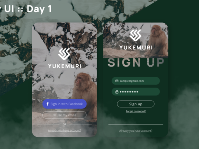 dailyUI day1 signup