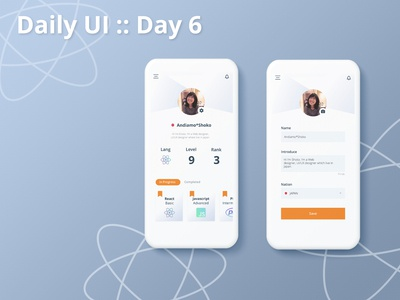 Daily UI :: day006 - User Profile