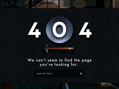 Daily UI :: day008 - 404 Page
