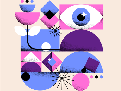 I See Shapes! shapes eye design flatdesign illustration