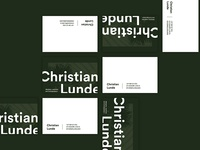 Business Cards, Christian Lunde