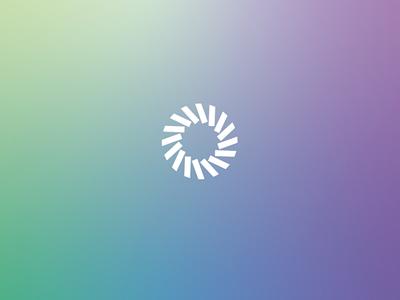 Spectra Dental Logo sketch symbol design pinwheel circle mark simple teal green purple blue rainbow logo gradient dental