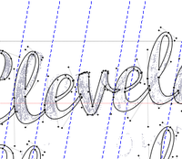 First lettering experience in Fontlab.