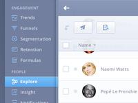 Mixpanel Product UI Design Concept