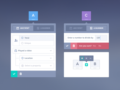 UI Elements | Formula Builder Concept error buttons app product icons flat tooltip modal wireframe sort delete toggle