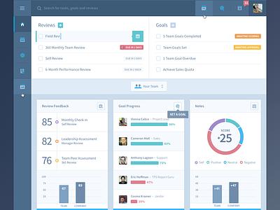 HR Admin Web App UI/UX blue gray ui interface ux browser flat look ma no gradients graph todo list chart