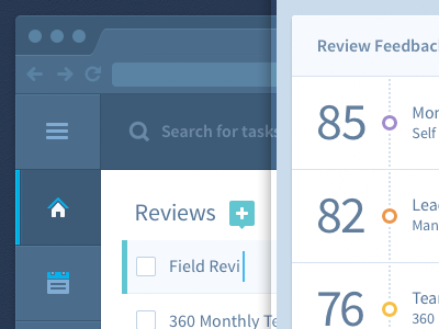 HR Admin Web App UI/UX blue gray ui interface ux browser flat look ma no gradients graph todo list chart