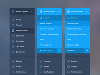 Mixpanel Navigation Menu Icons/UI