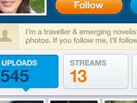 Photo Stream iPhone App User Profile