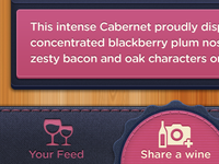 Social Wine iPhone Navigation UI Tab Bar / Tabbar Icons