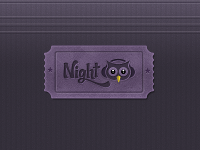 Night Owl or NightOwl Logo noise ticket logo brand owl purple yellow dark night headphones nightowl
