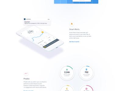 Mixpanel Automated Insights Landing page | Motion Design dashboard platform isometric blockchain 3d data navigation motion machine gradient