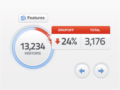 Analytics App Chart Tooltip UI Elements web chart blue red ui button dashboard ux dial overlay modal popup interface white arrows soft icon analytics clean texture tooltip