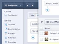 Mixpanel Product App Navigation UI