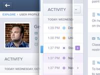 Activity Profile UI UX