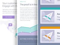 Landing Page UI, Mixpanel Engage Launch