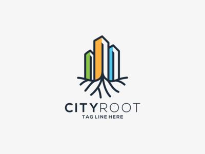 city root logo design
