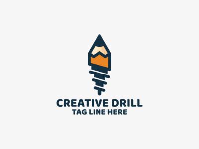creative drill logo design