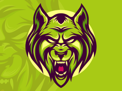 wolf mascot logo design