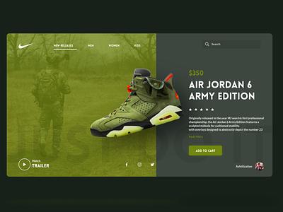 Air Jordan 6 Army Edition ux air jordan shoes graphic design ui
