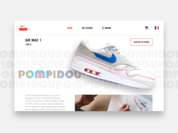 DAILY UI #01 - Air Max 1 Pompidou ( product page )