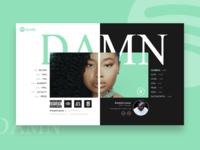 DAILY UI #06 - DAMN album ( Spotify redesign )