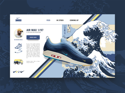 DAILY UI #08 - Air Max 1/97 Sean Wotherspoon ( product page )