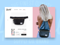 DAILY UI #09 - Herschel Fanny Pack ( product page )