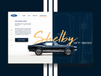 DAILY UI #13 - 1967 Shelby GT500 ( product page )