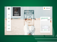 DAILY UI #19 - Adidas Stan Smith ( product page )