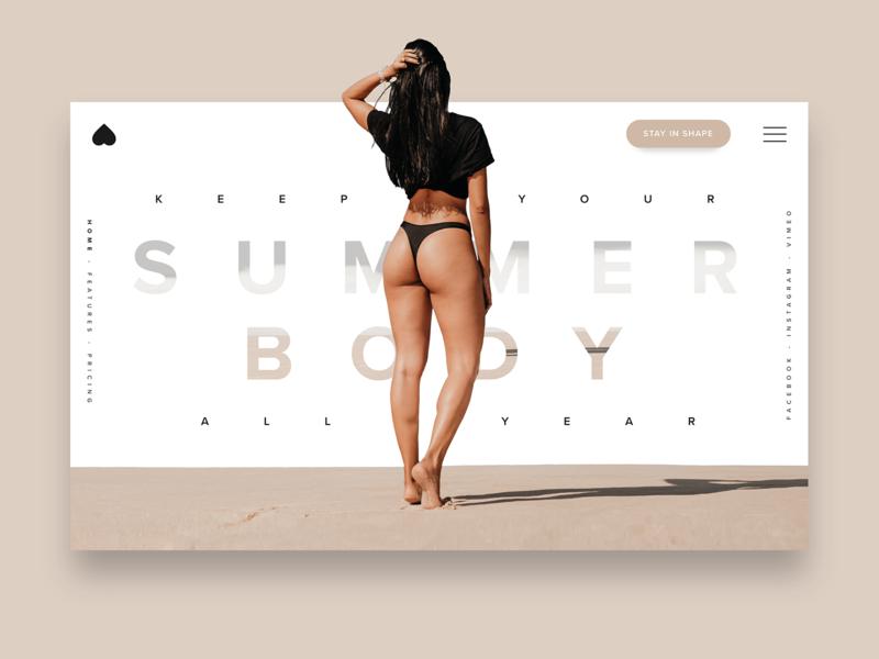 DAILY UI #21 - Summer Body ( training app ) by malik fouque