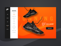 DAILY UI #22 - Nike Running ( product page )
