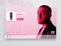 DAILY UI #23 - Mac Miller ( spotify redesign )