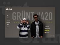 DAILY UI #24 - Grünt#420 ( music website )