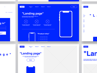 DAILY UI #26 - Landing Page ( templates ) mobile lettering website type web app typography process ux french ui flat design colors template wireframe ux design ui design uiux dailyui