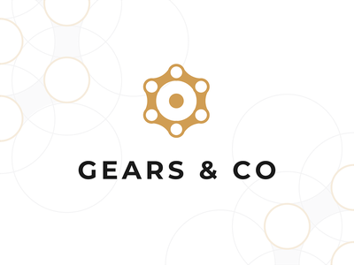 Gears & Co // logo concept dailyui type logotype logo negative space golden number gear settings french website typography vector icon process ui design flat illustration branding colors