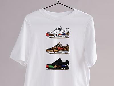 Le Animal - Kicks&Tees (Tee-shirt) tee shirt tshirt illustrator vector french flat illustration sneakers airmax nike branding